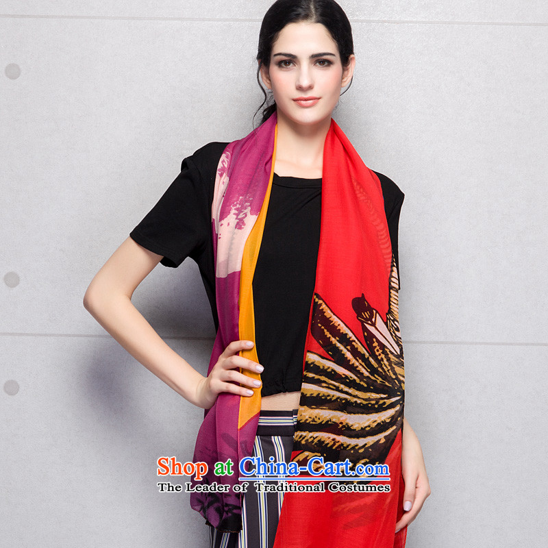 Ms Ina silk scarf Ms. wool warm and stylish a herbs extract large foreign domain shawl wind scarves, red autumn and winter ina (shiyina) , , , shopping on the Internet
