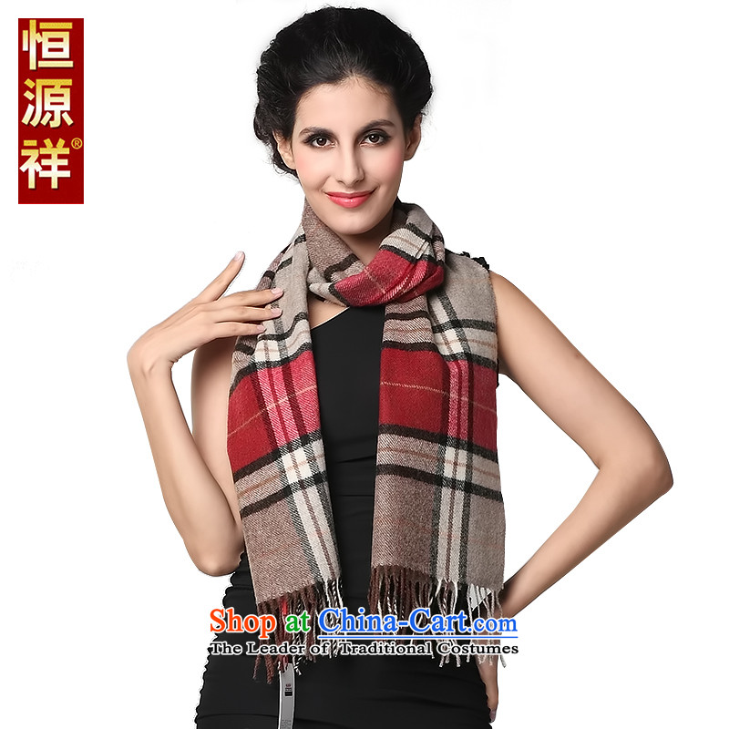 Hengyuan Cheung solid color patterned Lamb Wool Velvet Scarf Ms. wooler scarf couples) Thick Long Fancy Scarfof dual-use nansan red180*30 cm