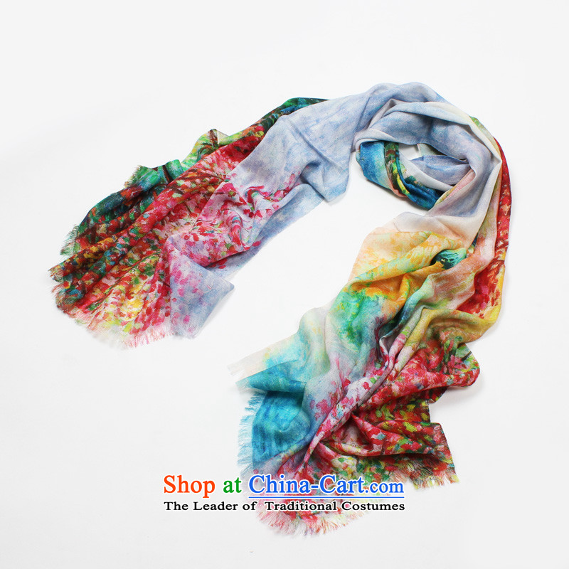 Shanghai Story counters genuine2014 new wool scarves, autumn and winter warm shawl encryption holiday gifts scarf procurement of goods to the payment of autumn and plants