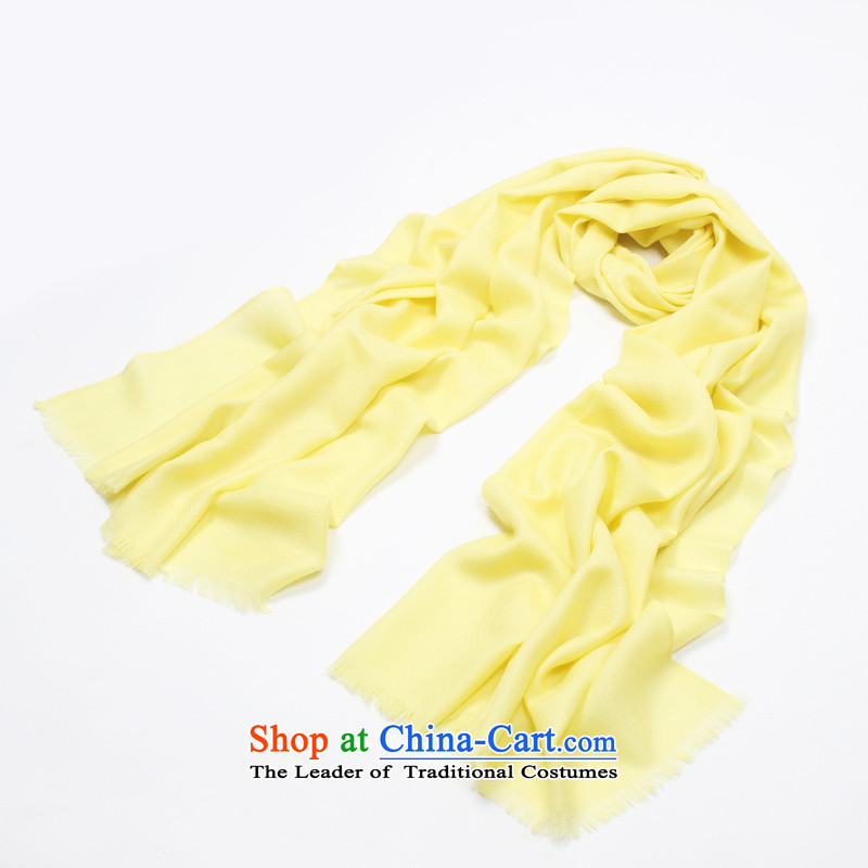 Shanghai Story counters genuine2014 autumn and winter new pure color woolen scarves twill Ms. bright yellow warm big shawl holiday gifts scarf procurement bright yellow