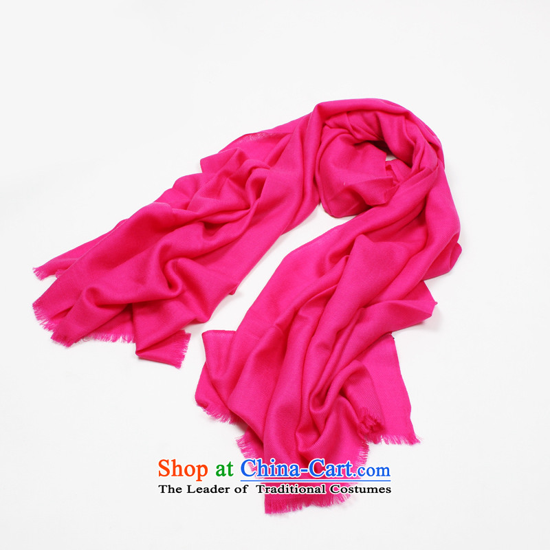 Shanghai Story genuine2014 autumn and winter new pixel color wooler scarf by Ms. Encryption Red Warm Big shawl holiday gifts scarf payment on delivery of red
