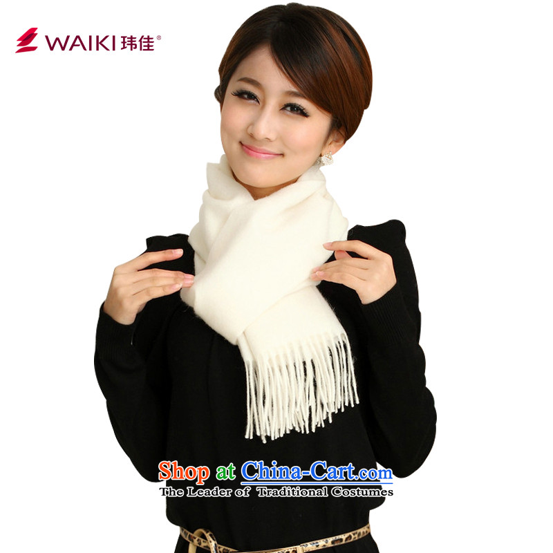 Wei Jia wool scarves WAIKI red and white women cape autumn and winter Korean a white