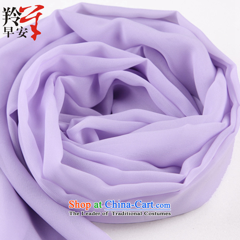 Good morning during the spring and autumn of solid color antelope silk scarf long spinning towel shawl scarves snow two small Centuty-time - light violet