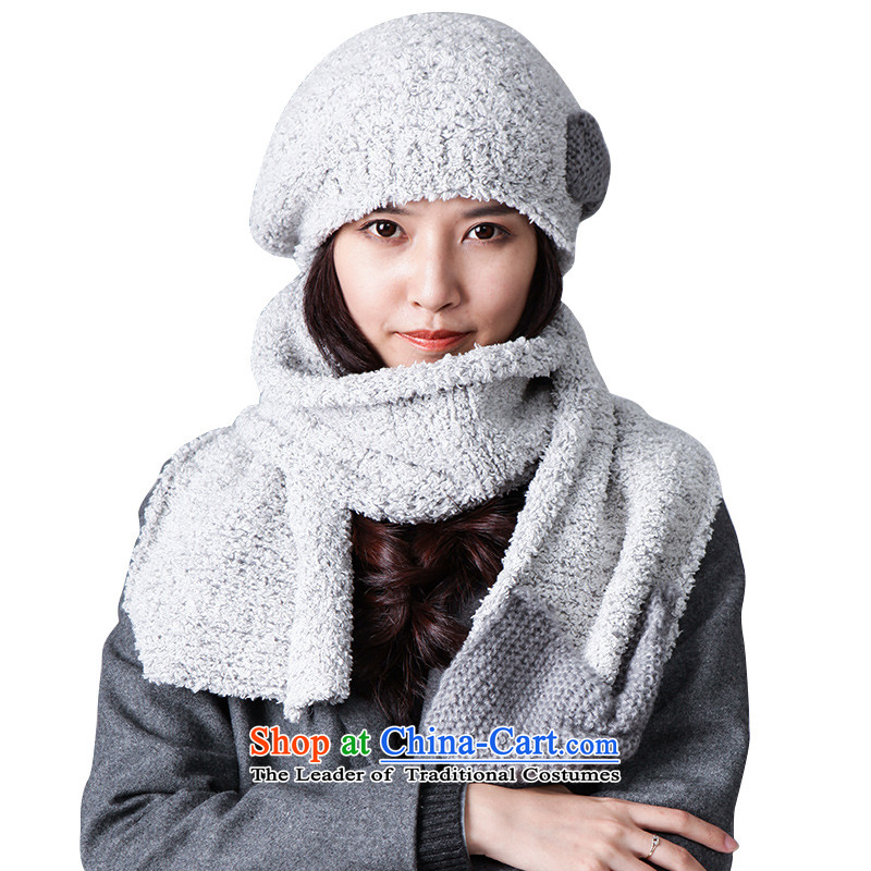 Knitting scarves for autumn and winter, Knitting scarves winter long warm thick L13FC356 Light Gray
