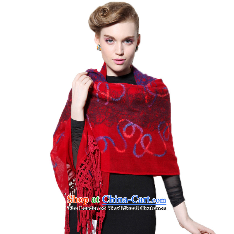 Hang Cheung wool disc source Ms. shawl embroidered air-conditioning shawl _Boxset_ _red edging