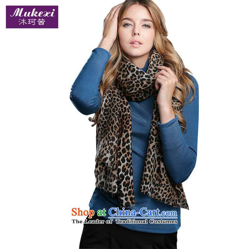 Mrs Ure 100 mu Memnarch wooler scarf scarf female winter classic Leopard Ms. scarves increase ultra-wide scarf scarf Womens short black coffee Color Gift