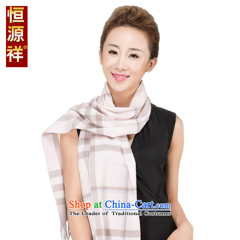Hengyuan Cheung pashmina shawl out of autumn and winter Ms. thick warm long thick wool scarf gift box 57.1_ 42.9_ Cashmere wool 18_ Nixihe powder of 180_30 cm