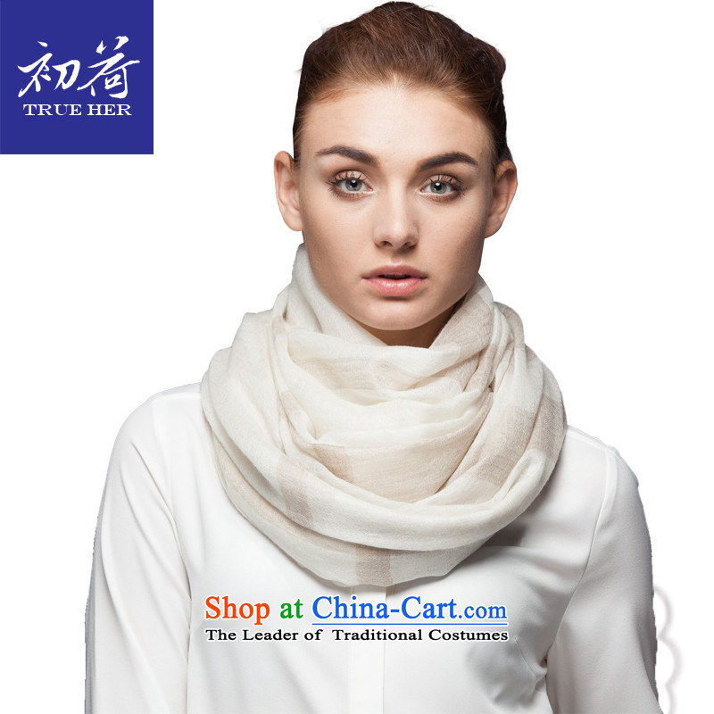 I should be grateful if you would arrange early worsted pure Cashmere scarf, autumn and winter pure color thin long warm a fancy scarf gift box with two natural white series