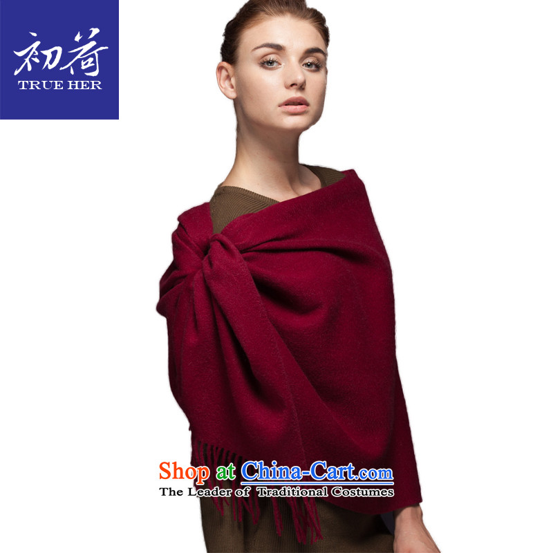 I should be grateful if you would arrange early woolen shawl scarves, Solid Color autumn and winter new ultra long thick a shawl4313gift box aristocratic series drink red