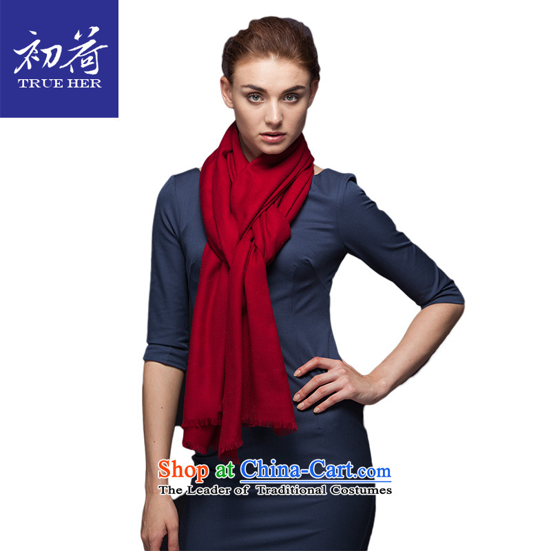 I should be grateful if you would arrange early Pure Wool scarves, pure color of autumn and winter long warm a shawl4313gift box OL series wine red