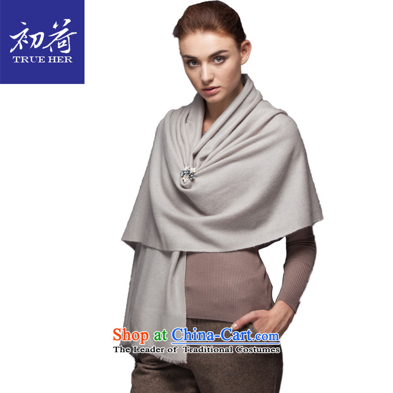 I should be grateful if you would arrange early pure color Ms. pashmina of autumn and winter twill thick long a shawl4313gift box MILAN SERIES Silver Gray