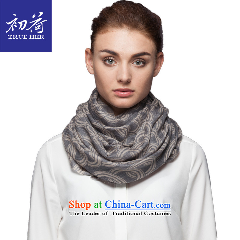 I should be grateful if you would arrange early Ms. wooler scarf autumn and winter a long geometry stamp shawl scarves with gift box successful series Gray