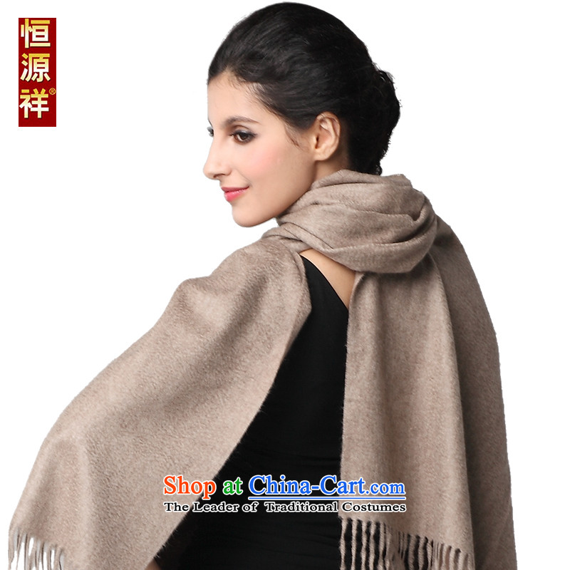 Hengyuan Cheung female red long pashmina of autumn and winter, pure color Large /pashmina shawl gift purple plush natural200*70 cm