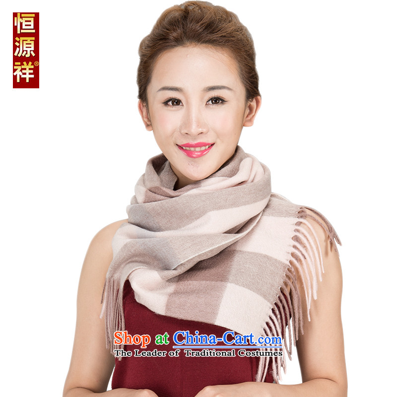 Ms. Cheung Hengyuan satin wooler scarf Thick Long Korean grid of autumn and winter warm cashmere shawls4313ared and pink180*30 06# cm