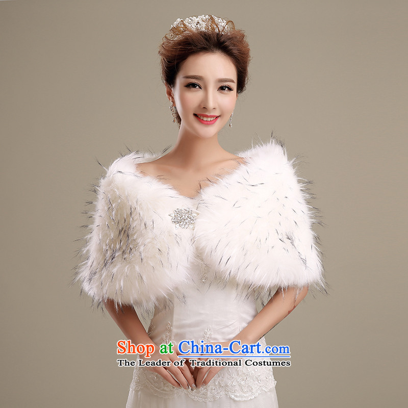 Embroidered brides is2015 autumn and winter Ms. new emulation fur short jacket, gross stylish wedding dresses gross shawl m White
