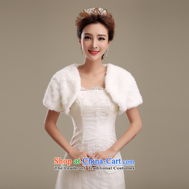 Embroidered brides is?2015 autumn and winter Ms. new emulation fur short jacket, gross stylish vest fur m White