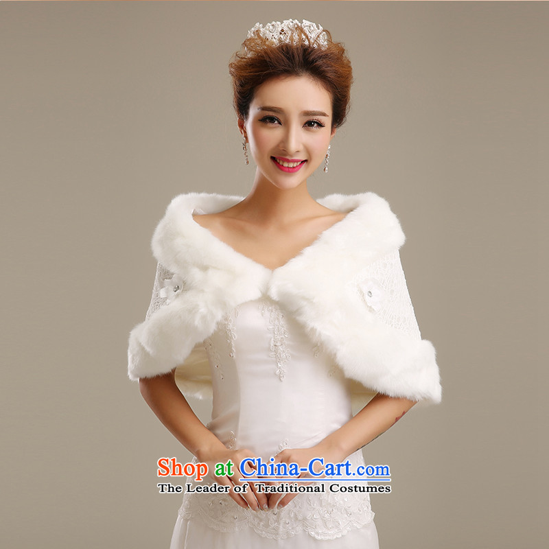 Embroidered is by no means a bride wedding dresses shawl qipao control lace white marriage Gross Gross shawl shawl m White