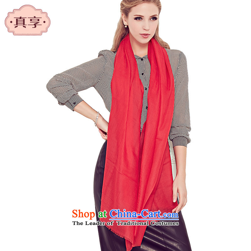 Enjoy true autumn and winter Ms. scarves stylish warm cashmere twill solid color scarf W199 red