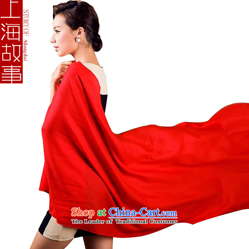 Shanghai Story wool air-conditioning shawl scarf autumn and winter, long red