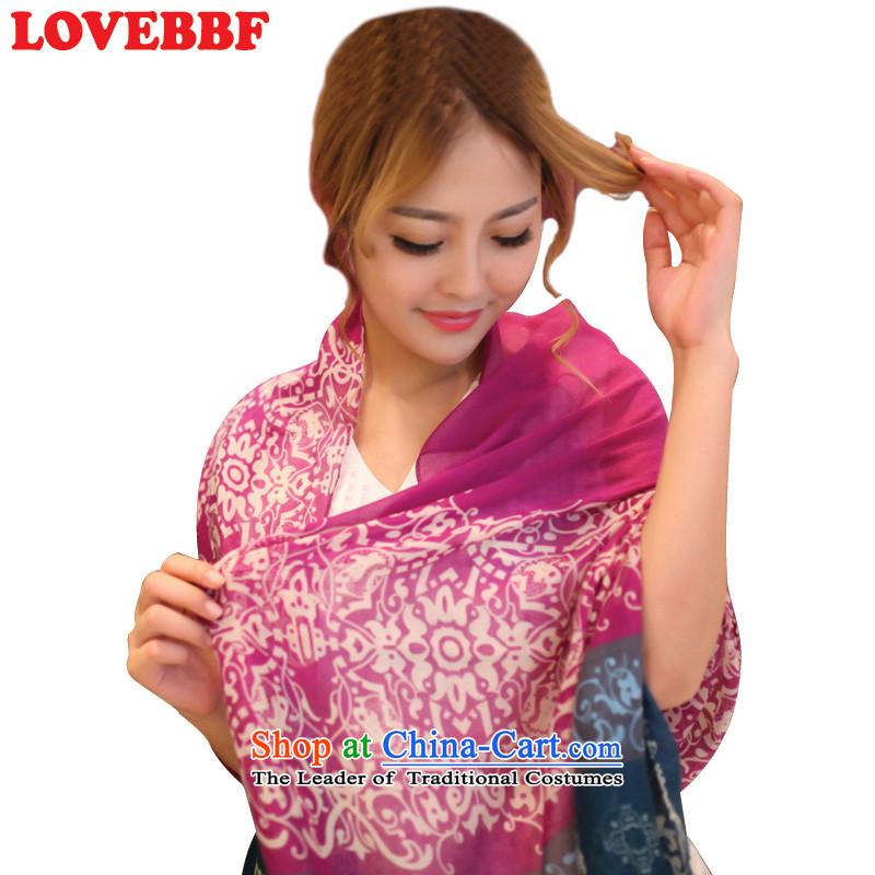 Lovebbfspring and summer ethnic scarf air-conditioning shawl long sunscreen silk scarf women silk scarf thin, beach towel (Q SJ-03- SJ-03 better purple are code