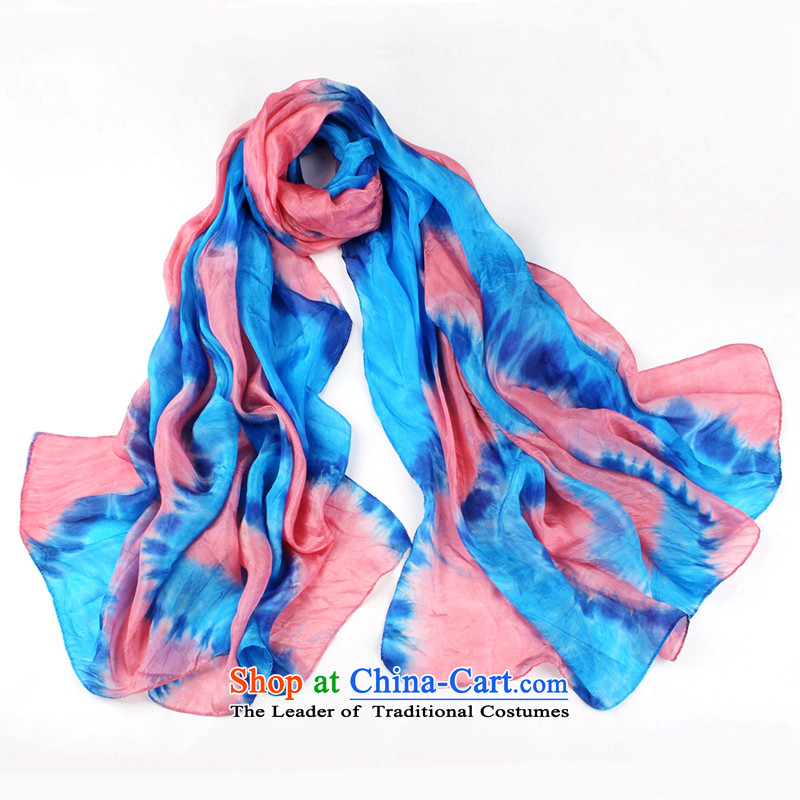 Shanghai Story silk scarfs 2014 new hand tie-dye herbs extract silk shawls air-conditioned beautifully Ultra 5#