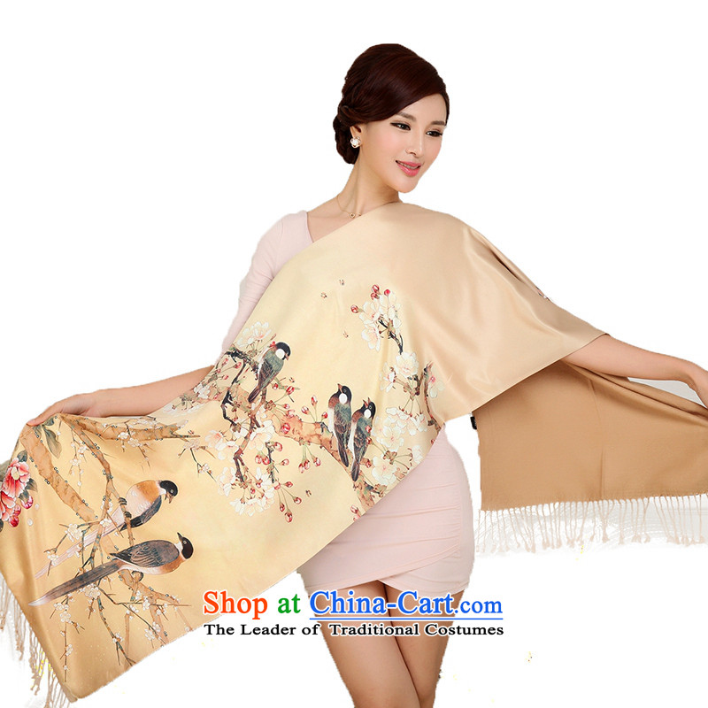 Shanghai Story fine silk scarf thick-stamp brushed long silk scarf shawl powerhouse air-conditioning-2_