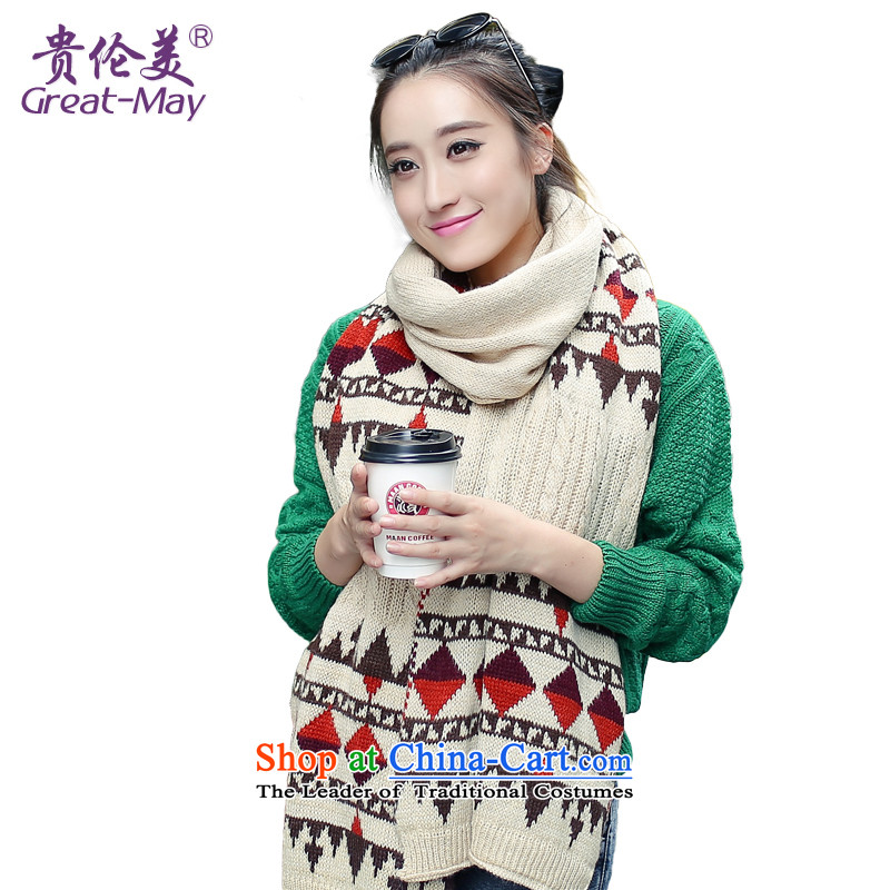 The end of the scarf girls Fall Winter GREATMAY Korean version of the Commission a suit knitting long Knitting scarves, widen the warm charisma WJ0070 beige