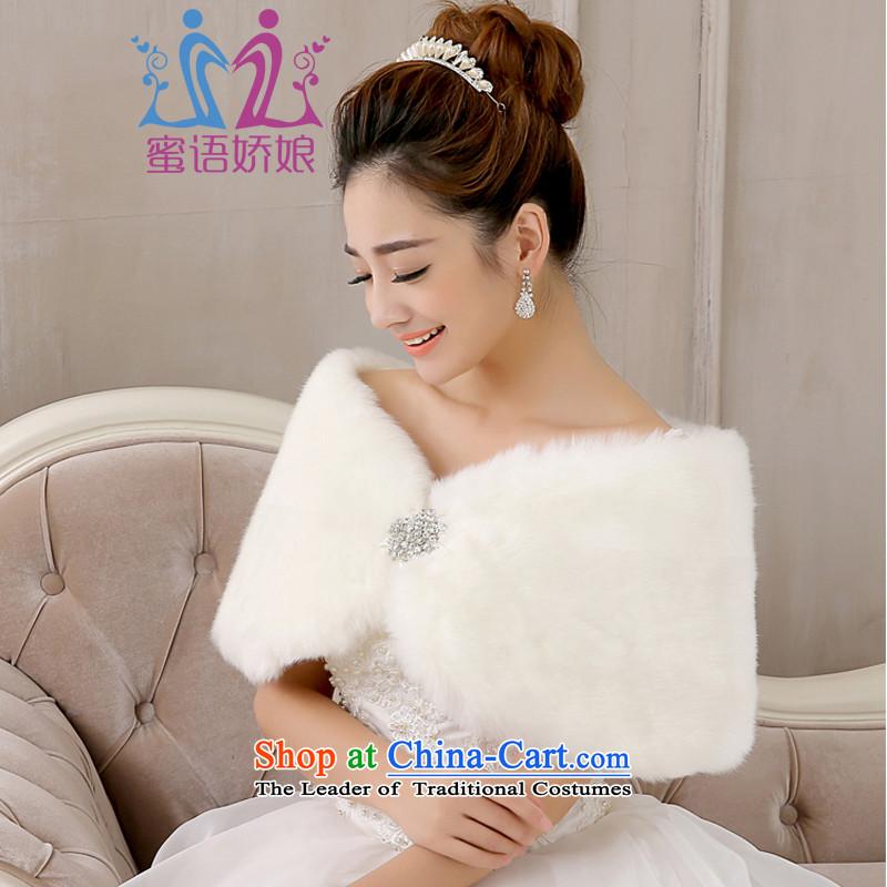 Talk to hernew 2015 warm winter shawl bridal shawl white soft wedding dresses accessories shawl Kampala shoulder white hair
