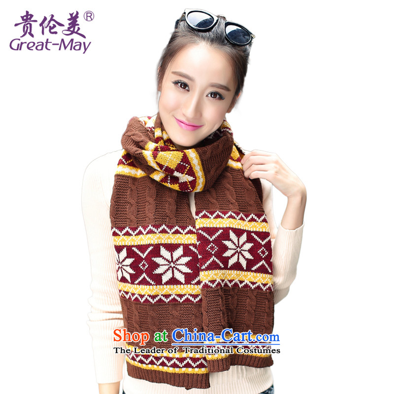 The British Knitting scarves winter snowflakes wind Fall Winter Korean female long Knitting scarves WJ0067 thick wild coffee