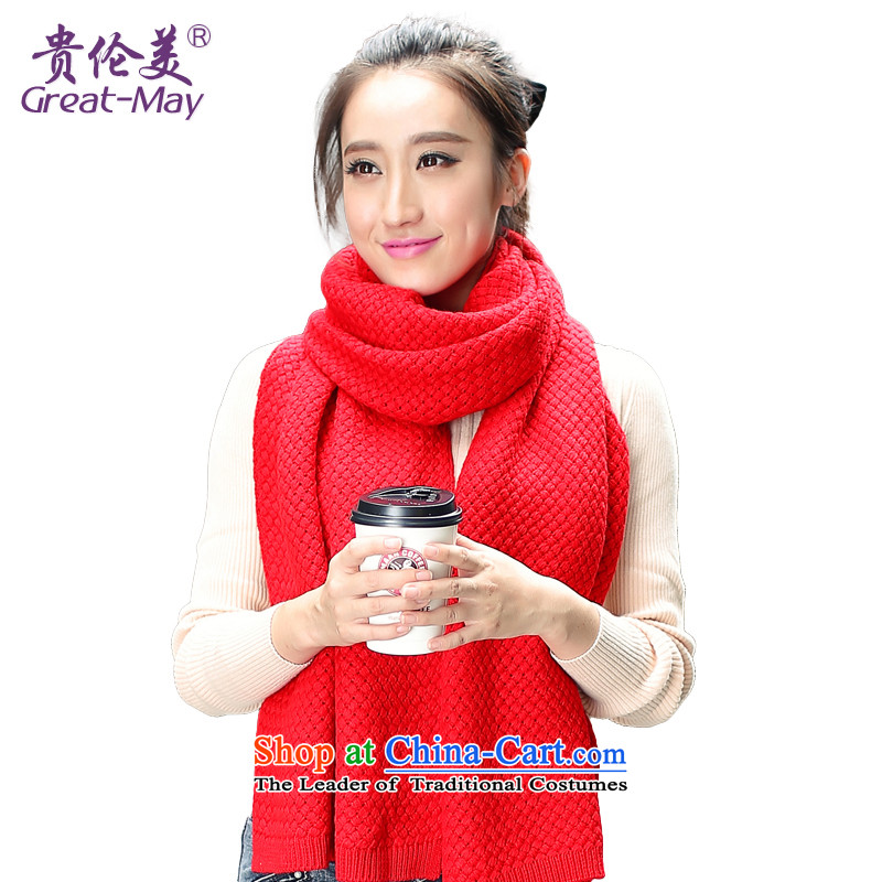 The Korean version of the solid color shading Knitting scarves corn girls Fall Winter Ms. stylish warm sweater WJ0052 a passion red
