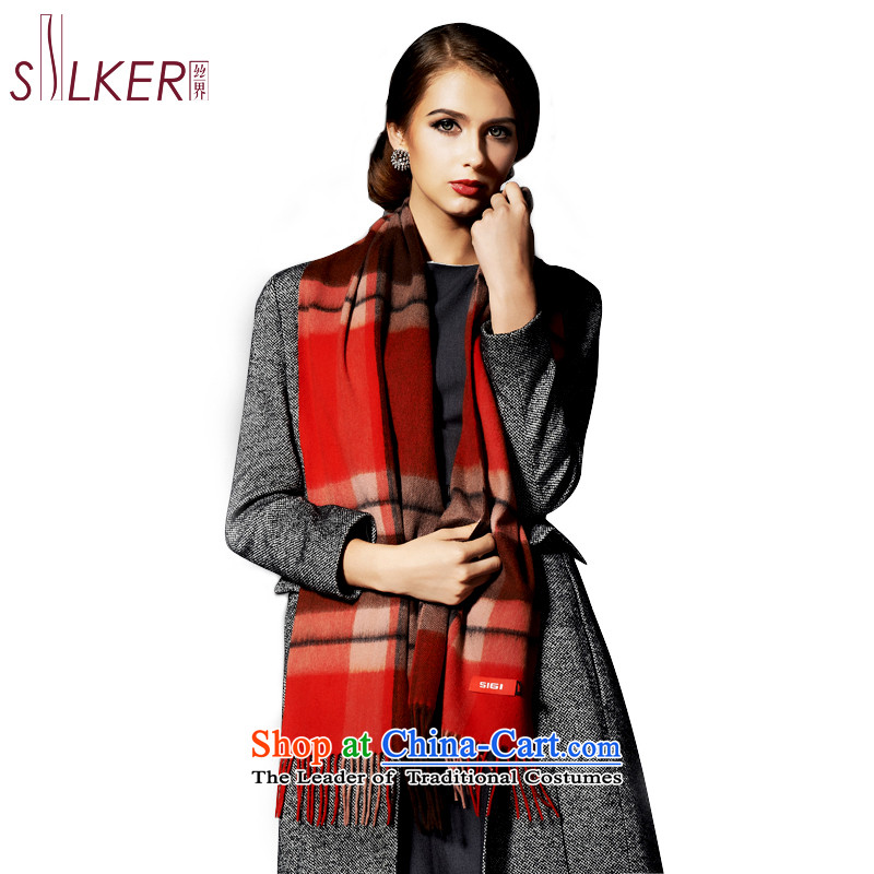 Sigi's new Silk pashmina shawl autumn and winter warm thick men's Fancy Scarf Plaid classic scarf unisex Half D1 of the cashmere