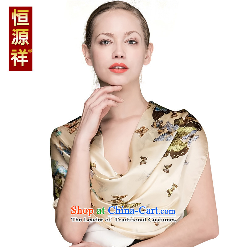 Ms. Cheung Hengyuan Korean silk scarf sauna silk scarves and classy spring and fall long silk scarves snow spinning towel winter large shawl luxury cassette packaging 166-1_ 90_90 cm