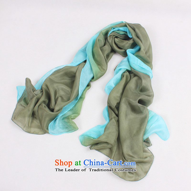 Shanghai Story genuine silk scarf autumn and winter New Silk Scarf 100% gradient herbs extract ocean woven shawl, warm scarf marine tour