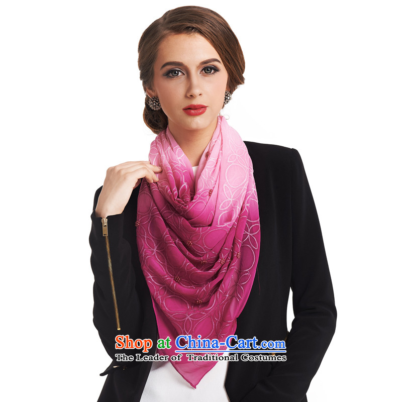 The population of new stylish Korea SIGI version upscale silk scarves Fancy Scarf two 100 herbs extract counters with support C.O.D. Ju beauty of Red heart