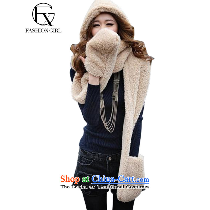 The litany of Rumsfeld 2015 Korean autumn and winter, a lovely thick wool hats scarves double gloves all-in-One Universal Image Color