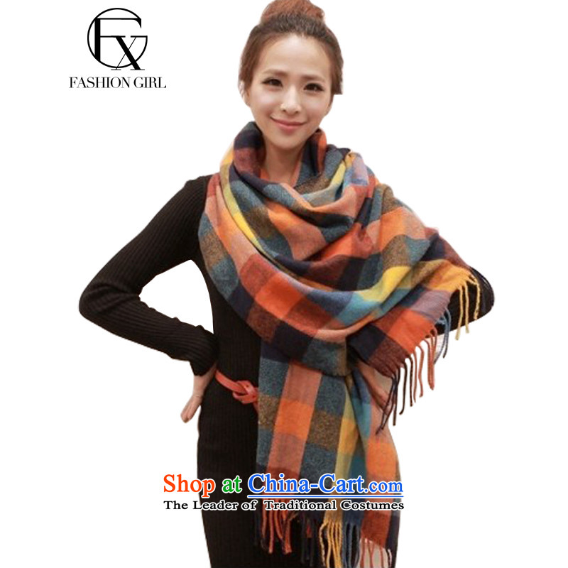 The litany of Rumsfeld 2015 new Korean fashion sense of autumn and winter, Spell Checker color grid edging pashmina shawl emulation a color grid
