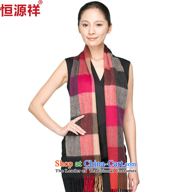 Ms. Cheung Hengyuan pashmina shawl Korean grid of autumn and winter couples a thick聽C125_