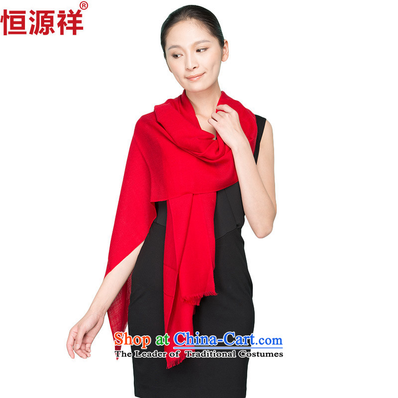 Ms. Cheung Chiu Hang source warm winter solid color scarf Korean female wild extension extra large with two large red woolen shawl