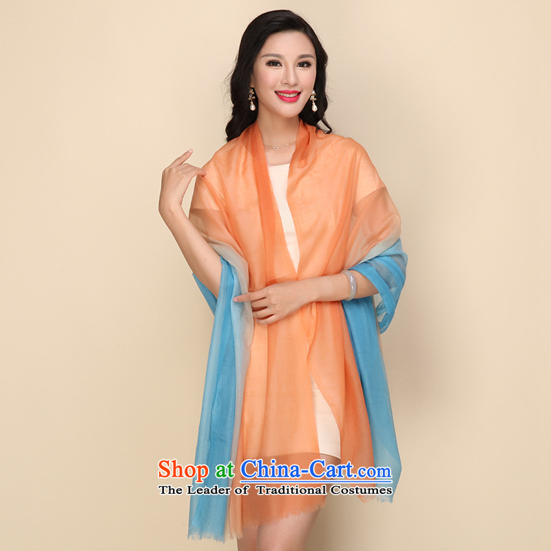 Shanghai Story gradient Cashmere scarf, autumn and winter shawl a Blue orange, Shanghai Story of the gradient (STORY IN SHANGHAI) , , , shopping on the Internet
