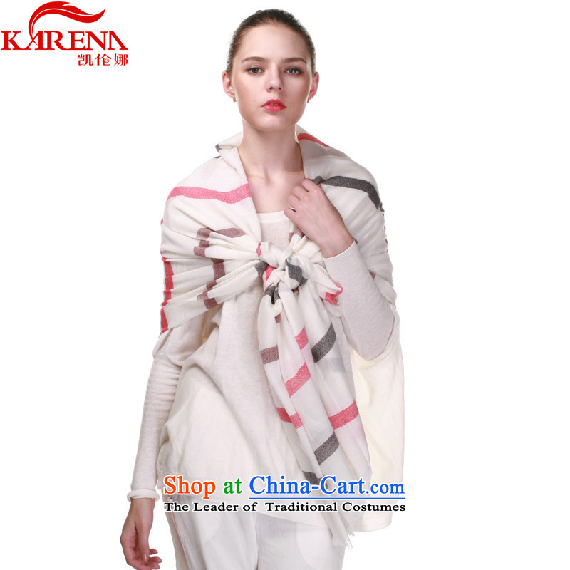 Wooler Scarf Korean karena autumn and winter Ms. Long Fancy Scarf KN-20134313streaked with Black