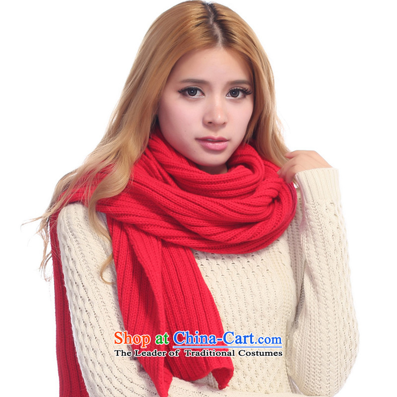 Extra-long ultra-wide scarf couples, Red