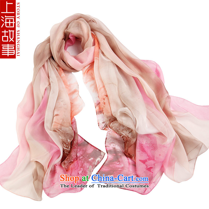 Shanghai Story emulating silk scarves air-conditioning silk scarf sunscreen scarf oversized masks in the Korean version of silk scarf silk scarf soulmates toner color coffee