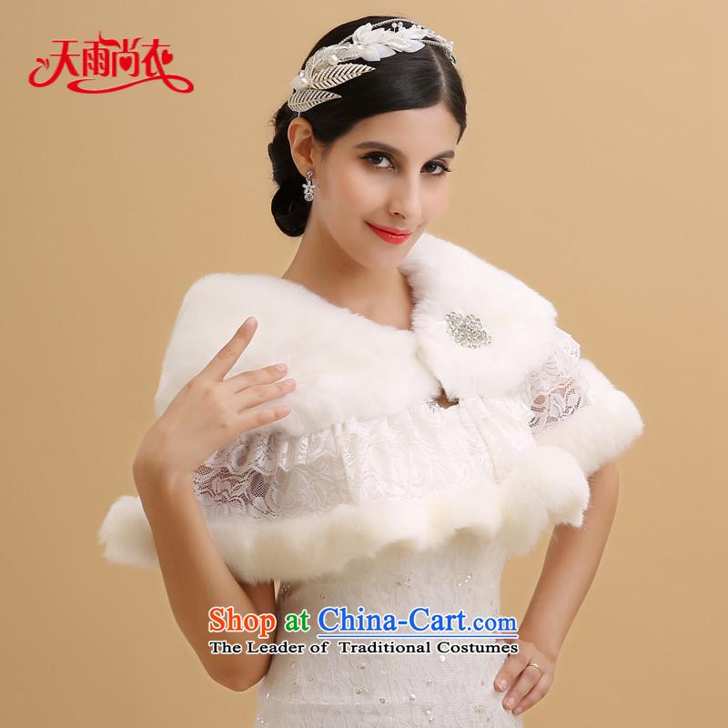 Rain-sang yi new bride wedding winter marriage warm jacket fox gross small white Kampala shoulder lace water drilling gross shawl PJ0100