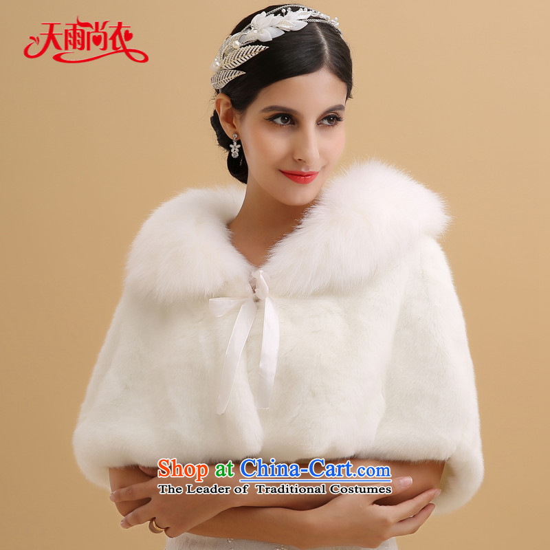Rain-sang Yi marriages new warm winter coats wedding ponchos in white plush shawl PJ096 shoulder