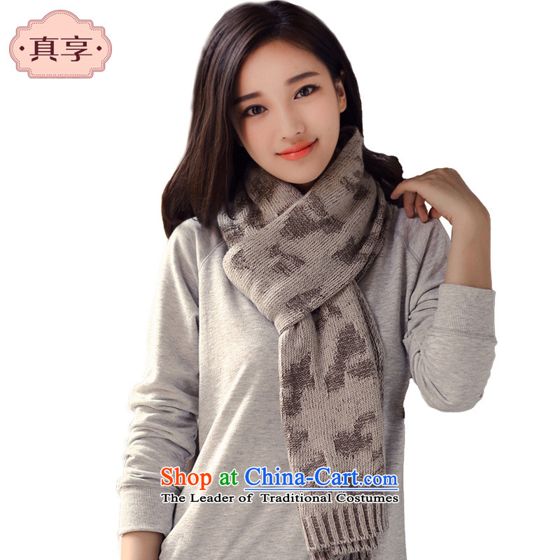 Ms. enjoy true thantrue Autumn and Winter Sweater skull couples, Knitting scarves beige