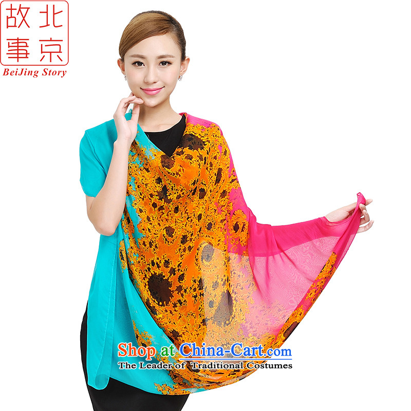 Beijing Spring and Autumn Tale new silk scarves women chiffon Pure Herbs extract scarves, extension of the large Indian shawls 159049 Red