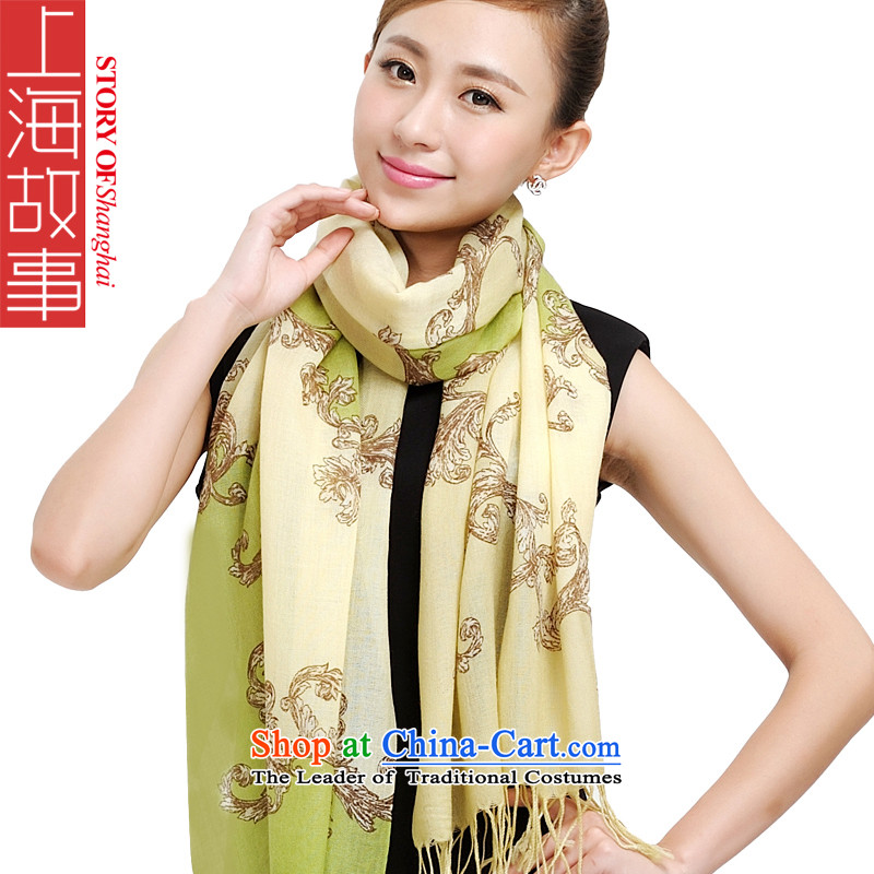 Shanghai Story wooler scarf 2015 autumn and winter Ms. new warm charisma wild dream scarves palace wool scarf 177012 177012 Encryption Green