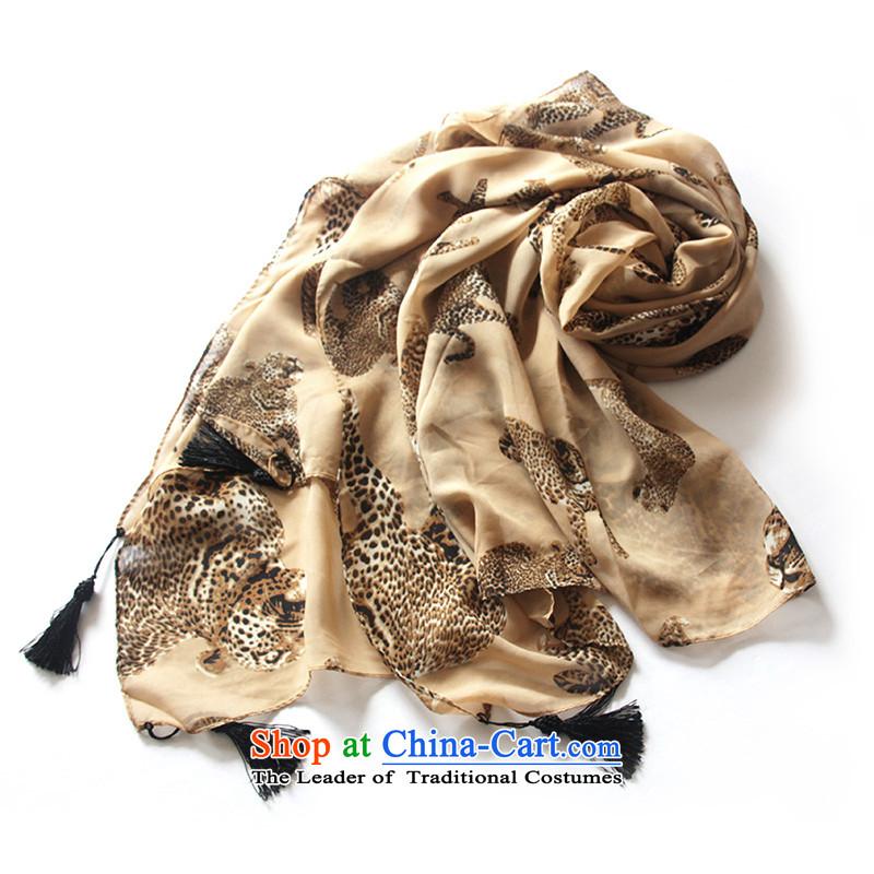 Anthology of Korean CHEGEE leopard pendants silk scarf leopard children shawl card its