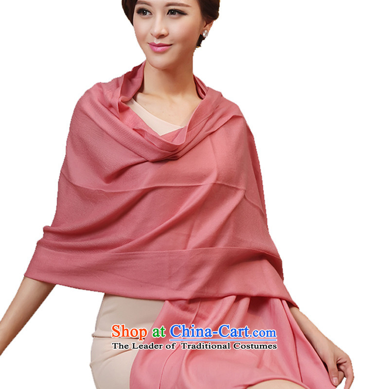 Hsitzu Hong wooler scarf pure color Ms. Winter wooler scarf female autumn and winter Korean long leather red