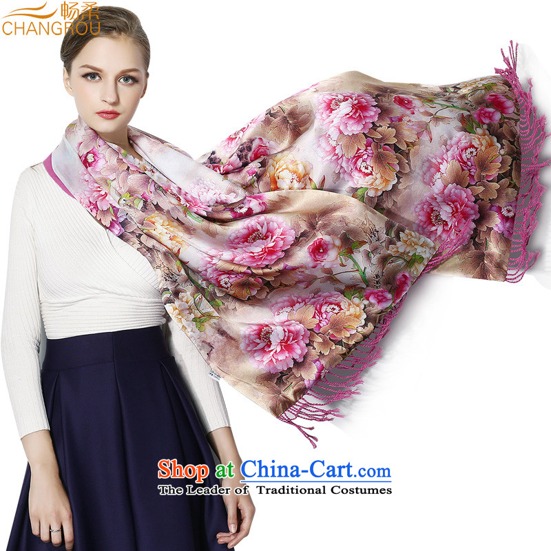 The new 2015 Sophie Cheong double thick silk shawls brushed large sauna silk satin, silk scarf mother warm ceremony SJ0025 life painting